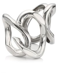 Annelise Michelson   Metallic Silver Large Chain Link Cuff   Lyst