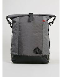 TOPMAN - Gray Premium Grey Roll Top Backpack for Men - Lyst