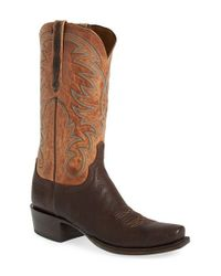 Lucchese | Brown 'ferris' Western Boot for Men | Lyst