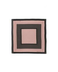 Marc By Marc Jacobs | Black Polka Dot Square Scarf - Nude Peach Multi | Lyst