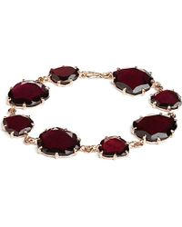Annoushka | Purple 18ct Rose Gold And Garnet Shard Bracelet | Lyst