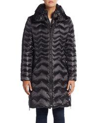 Dawn Levy | Black Karen Chevron-quilted Down Puffer Coat | Lyst