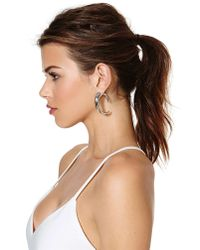 Nasty Gal - Metallic Ajax Tunnel Earrings - Lyst