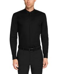 HUGO - Black Slim-fit Dress Shirt In Cotton Blend: 'eberly' for Men - Lyst