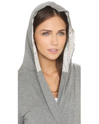 Splendid - Gray Loungy Robe - Light Blue Heather - Lyst