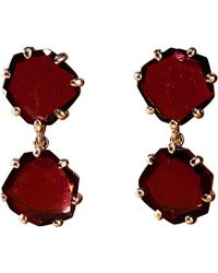 Annoushka | Pink 18Ct Rose Gold And Rhodolite Garnet Shard Drop Earrings - For Women | Lyst