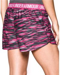 Under Armour   Gray Play Up Print Athletic Shorts   Lyst