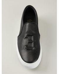Joshua Sanders - Black Embossed 3 Slip-On Sneakers for Men - Lyst