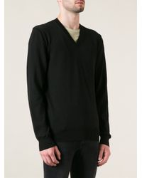 Dolce & Gabbana - Black Vneck Sweater for Men - Lyst