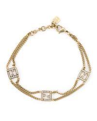 Fendi | Metallic Ff Logo Bracelet | Lyst