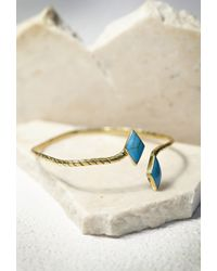Forever 21 | Blue Sunahara Double Diamond Palm Cuff | Lyst