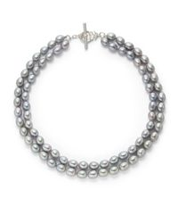 Slane - Metallic 7mm Grey Freshwater Pearl Double Strand Necklace16 - Lyst