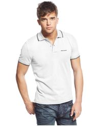 Armani Jeans | White Tipped Polo for Men | Lyst