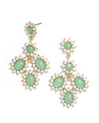 BaubleBar - Green Poppy Chandelier Drops - Lyst
