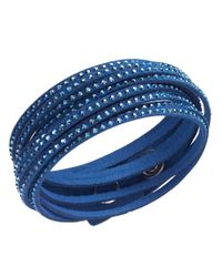 Swarovski - Blue Slake Crystallized Cobalt Bracelet - Lyst