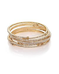 ABS By Allen Schwartz | Metallic Gold Coast Coil Tennis Bracelet Set | Lyst