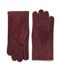 Saks Fifth Avenue - Brown Shearling Gloves for Men - Lyst