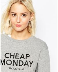 Cheap Monday | Metallic Geo Earrings | Lyst