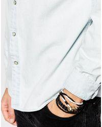 ASOS - Black Double Wrap Leather Anchor Bracelet Pack for Men - Lyst