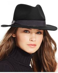 Vince Camuto | Black Chained Panama Hat | Lyst