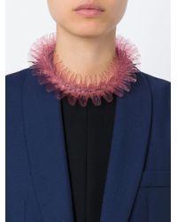 Mary Katrantzou | Pink Ruffled Necklace | Lyst