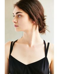 Urban Outfitters - Metallic Chain Fringe Drop Earring - Lyst