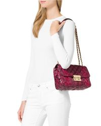 MICHAEL Michael Kors   Pink Sloan Leather Satchel   Lyst