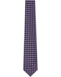 Charvet - Purple Grid Square-print Silk Tie for Men - Lyst