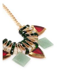Scho - Metallic Jade Plate Glass Bead Necklace - Lyst