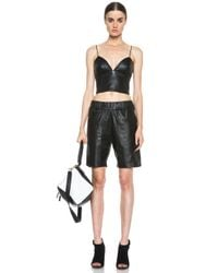 Nicholas - Black Leather Bra Top - Lyst