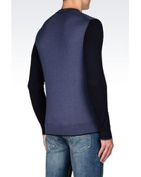 Armani Jeans | Blue Jumper In Cotton Blend for Men | Lyst