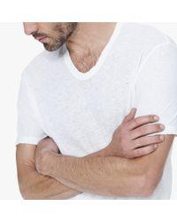 James Perse - White Linen Cotton Soft V-neck for Men - Lyst