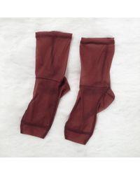 Darner | Brown Monochrome Mesh Socks | Lyst