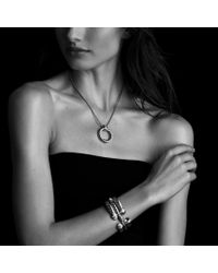 David Yurman - Yellow Waverly Cable Bracelet with Citrine and Diamonds - Lyst