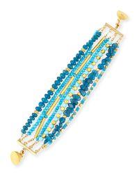Dina Mackney - Blue Turquoise & Apatite Beaded Bracelet - Lyst