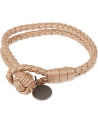 Bottega Veneta - Natural Intrecciato Nappa-leather Bracelet - Lyst
