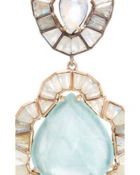 Nak Armstrong - White Aquamarine Ruffled Drop Earrings - Lyst