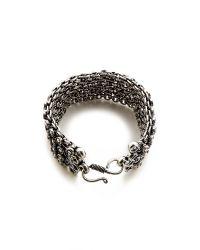 Raga | Metallic Thick Bracelet - Silver | Lyst