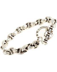 Hoorsenbuhs - Metallic Silver & Diamond Open Link Bracelet - Lyst
