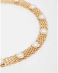 Pieces | Metallic Riluna Choker Necklace Choker | Lyst
