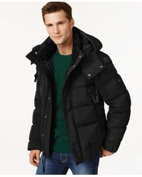 Andrew Marc | Black Helston Quilted Puffer Coat for Men | Lyst