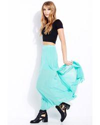 Forever 21 - Blue Must-Have M-Slit Maxi Skirt - Lyst