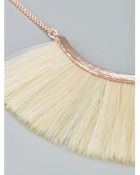Bjorg | White Pony Hair Necklace | Lyst