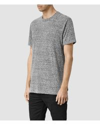 AllSaints | Gray Detress Crew T-shirt Usa Usa for Men | Lyst