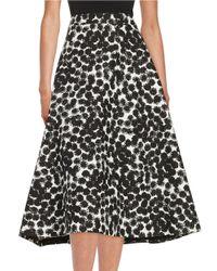 Trina Turk | Black Charmer Monochrome Skirt | Lyst