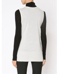 Rag & Bone - White Lace Panel Sleeveless Top - Lyst