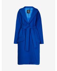 McQ - Blue Oversized Coat - Lyst