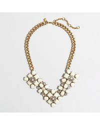 J.Crew - White Factory Opaque and Crystal Flowers Necklace - Lyst