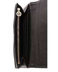 Tory Burch - Black Saffiano Envelope Continental Wallet - Lyst