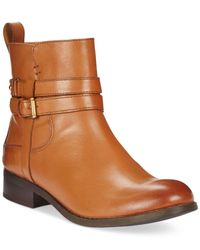 Clarks | Brown Artisan Women's Pita Austin Booties | Lyst